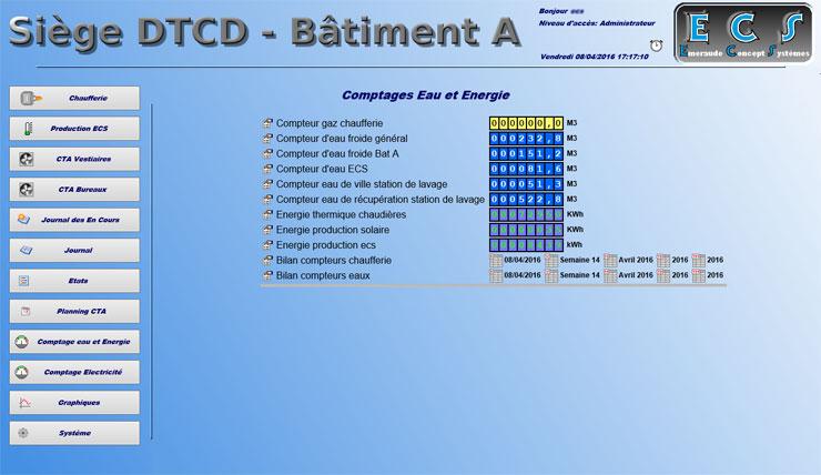 Comptage de l'eau et des énergies thermiques et accès au bilan